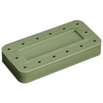14 Hole Magnetic Rectangle Bur Block - Plasdent